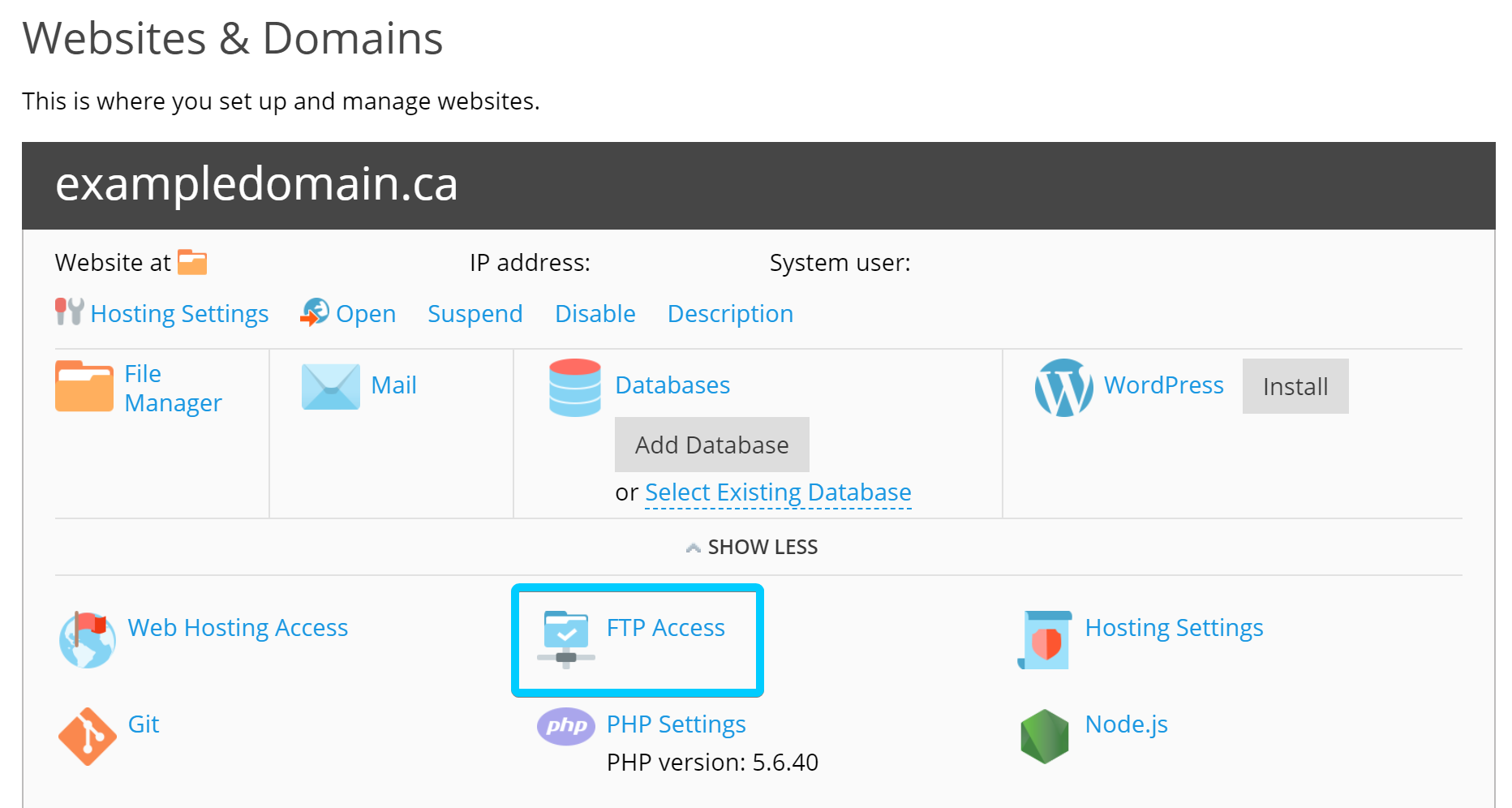 How do I create an FTP user? What are my FTP settings